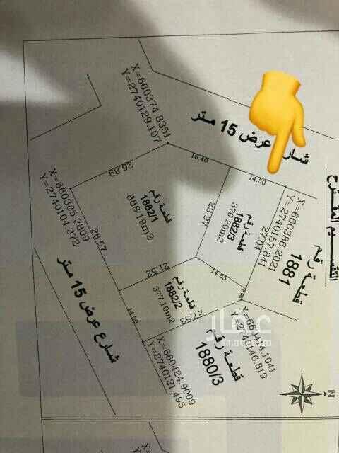 1748363 عرض مميز 💎💎💎 للبيع ارض في حطين النموذجي المساحة ٣٧٠م الاطوال ١٤.٥ في ٢٧.٥ و الضلع الثالث ٢٣.٩٨ الواجهة بين الغرب و الشمال  شارع ١٥م السعر البيع ٢٨٥٠ بدون ضريبة علي شور الموقع: Dropped pin Near Unnamed Road, Riyadh 13518 https://goo.gl/maps/KKkE4nvBccMbMzgVA