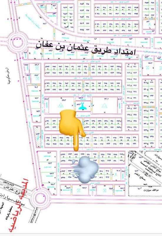 1368621 حي النموذجي منح ملكية رقمها ١٢٧٦ مسيوم ١٢٠ الحد ١٣٥ كما هو ظاهر بصورة المخطط ورقم القطعة في العلامة الصفراء