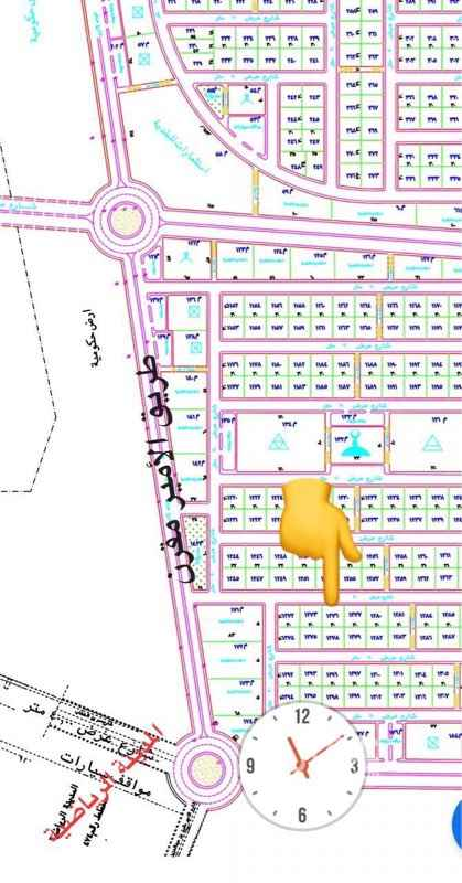1499321 على شارع ٢٠ مساحة ٩٠٠ حي النموذجي شرقية سيم ١٠٠ الف الحد ١٣٠