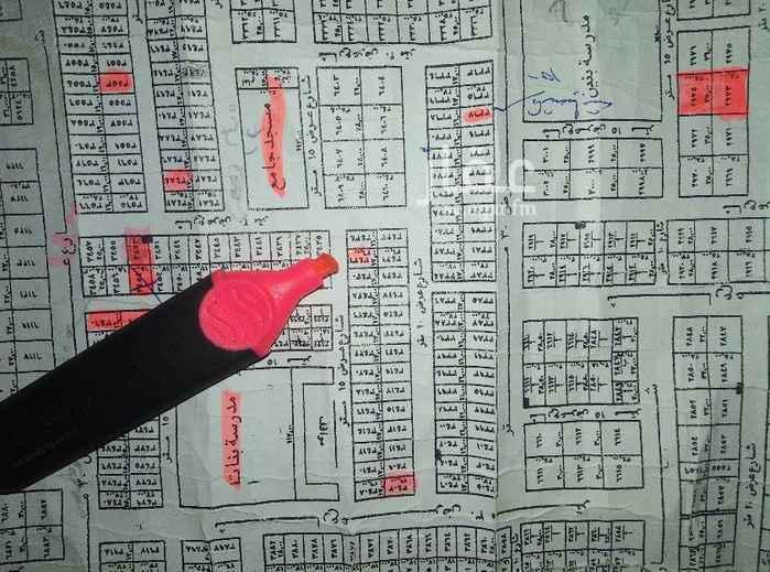 1643883 قطعه سكنية مساحه ٤٤٢م زاويه تجاريه شمال ريحانه شرق عبد العزيز الشوارع ٢٠جنوبي و ٣٠غربي الاطوال ١٧*٢٦ البيع ٢٣٥٠