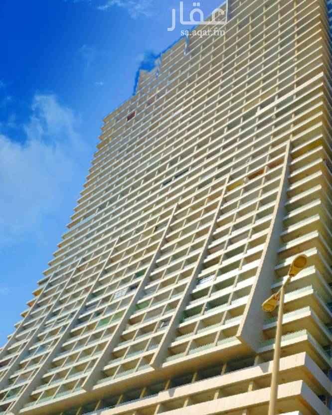 1507468 شقة في برج داماك مؤثثة بالكامل مكونة من غرفة نوم رئيسية وصالة وحمامين ومطبخ  وبلكونتين مطلة مباشرة على البحر وعلى مدينة جدة بالدور ٢٧