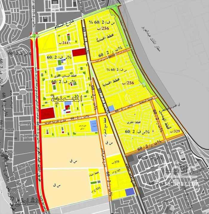 1496371 أرض سكنية في مخطط ضاحية البساتين على ٣شوارع موقع مميز وفرصة للتطوير.  يمتنع الوسطاء 🚫 🚫 🚫