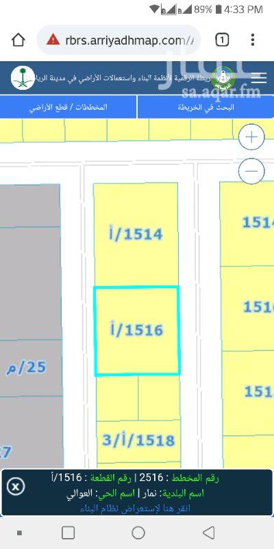 1291256 ارض سكنية للبيع مساحة 868 م شارعين 15 م شرقي و 12 غربي