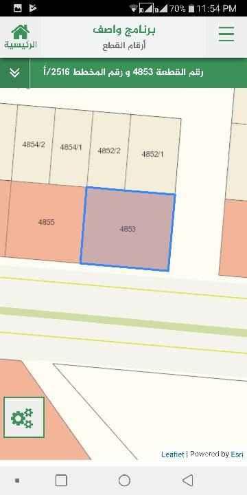 1557271 ارض تجارية للإيجار طويل الأجل مساحة 1050 م شارع 40 جنوبي و شارع 20 شرقي