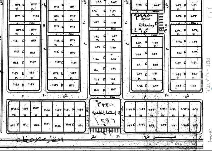 1675277 للبيع ارض سكنية غربيه شارع 15 رقم القطعه 1042 وصل السوم 26 الف