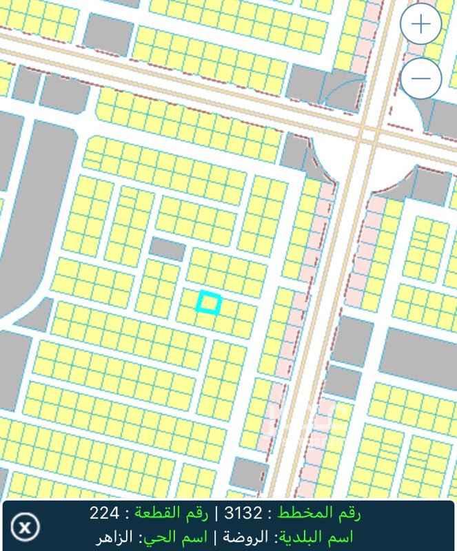 1632343 ارض في مخطط 3132 قطعة رقم 224 المطلوب فيها ٢٠٠ الف  ملاحظة: الموقع غير دقيق