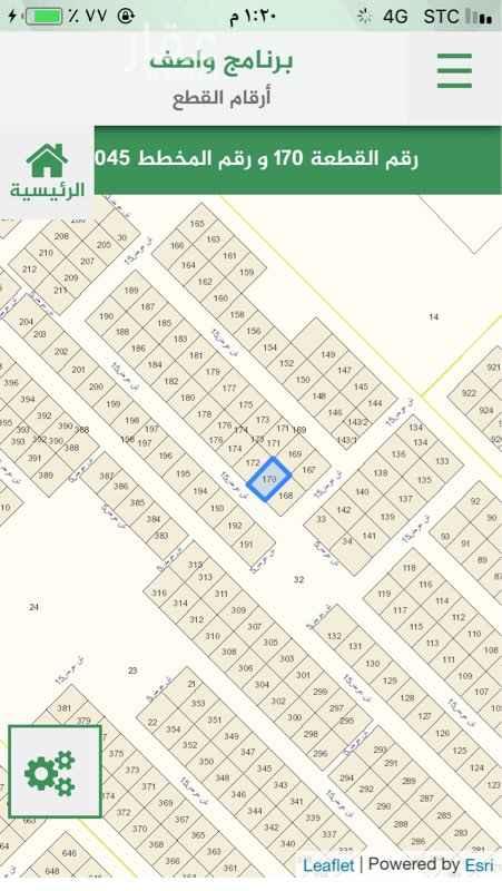 1692786 للبيع فى منح عريض سكنيه بسعر ممتاز   مخطط ٣٠٤٥   قطعه ١٧٠   مساحه ٤٠٠ م   شارع ١٥ جنوبى   على السوم   مباشر