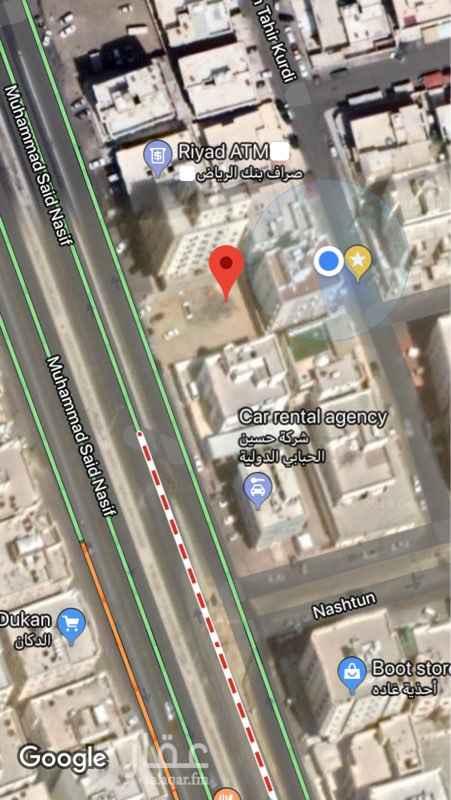 1537715 أرض تجارية على شارع محمد سعيد نصيف (٥٢م) مساحتها ٦١٦ م  العمارة الواقعة بالارض الظهيرة لهذه للبيع ايضاً العمارة مكونة من اربعة ادوار ومساحة الارض المبنية عليها ٥٢٠م