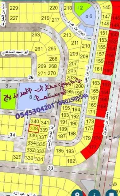 1550873 للبيع بمخطط 209   حي المرجان     رقم الارض 338  حرف  أ     المساحه 875 متر    شارع 20 غرب     السعر 270 الف  للتواصل ابو ســــمــــــــــا  0502505540  0545304201