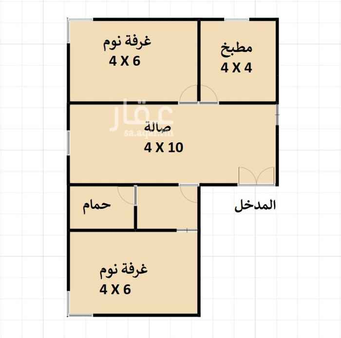 1327605 شقة غرفتين للايجار بالدور الارضي عداد كهرباء مشترك * 2 غرف . * 1 صاله . * 1 دورة مياه .  للتواصل: +966553535905
