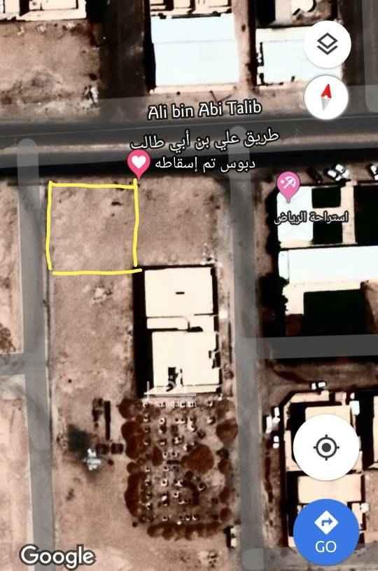 1448957 للبيع ارض في حفر الباطن حي الربوه، (العمري) سكني و تجاري  على شارعين ٣٠، ١٥ شمال غرب بالقرب من استراحة الرياض المساحة ٦٠٠ متر