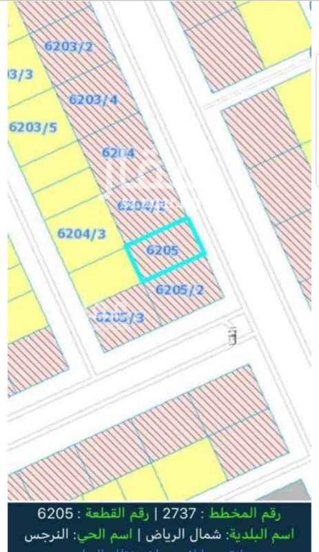 1808396 للبيع قطعه ارض تجاريه  حى النرجس الكيلو الثالث الغربى المساحه 700م  شارع 36م شرقى  الاطوال 20 × 35 بيع 2572 مباشر
