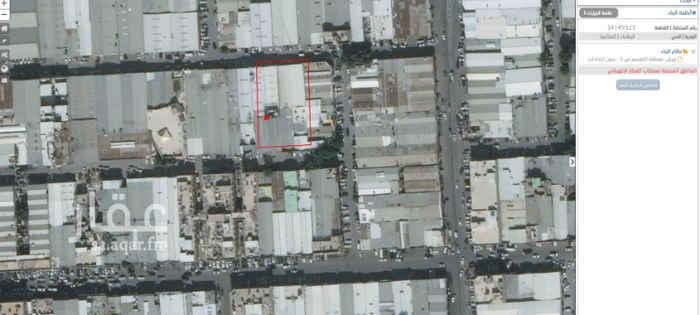 1598964 قطعه ارض تفتح شمال وجنوب  على شوارع 15 بعرض 38م وعمق 62 م مقام عليها 8 ورش مؤجرة