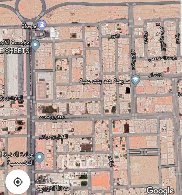 1690903 للبيع راس بلك شمالى حى حطين الموسى  المساحه ٤٥٠٠م  الشوارع  ٢٠م شرقى  ١٥م غربى  ممر ١٠م شمالى  الارض ع السوم