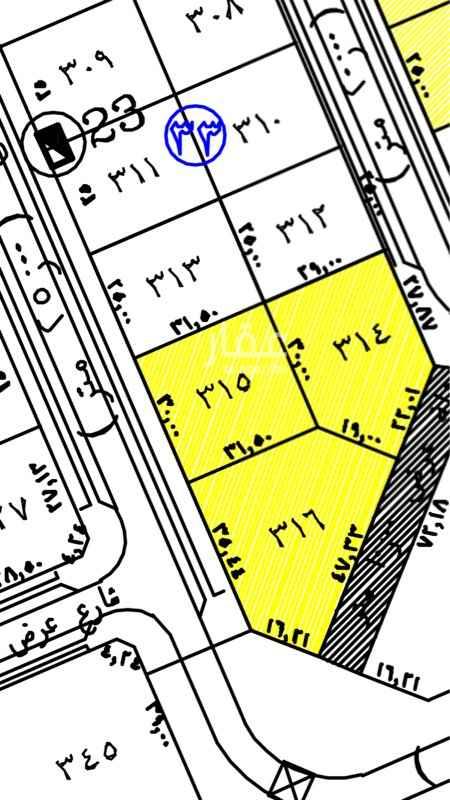 1736837 حي الرحاب  المساحة ٩٤٥م  شارع ٢٥م شرقي  سعر المتر ٢٤٠٠   التواصل فقط واتساب