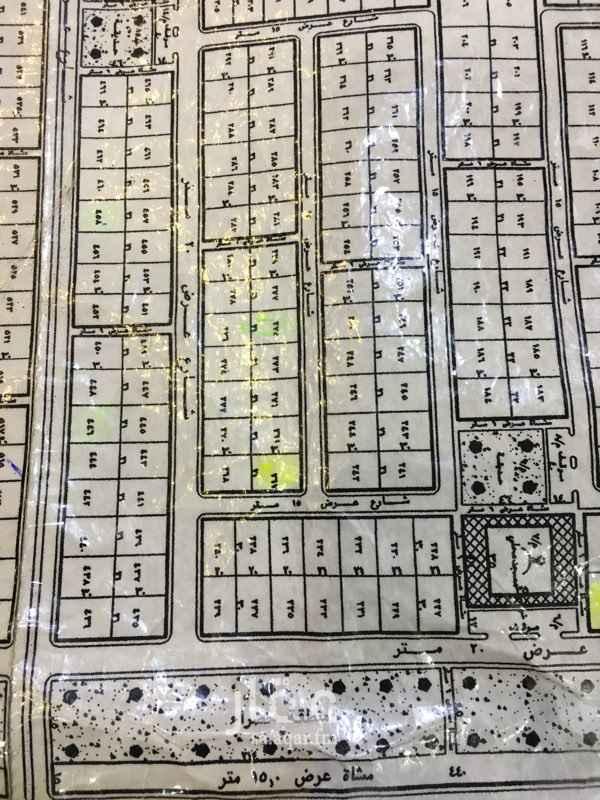 1811914 ارض بحرمه في مخطط 1308 رقم القطعه 267 على شارعين15 شماليه شرقيه