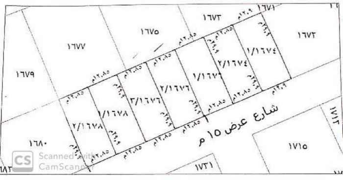 1742295 للبيع قطعة ارض في حي حطين  جنوب طريق الإمام سعود  مساحة ٣٨٤م  الأطوال ١٢.٨٥×٢٩.٩ شارع ١٥ جنوبي  البيع ٣٠٠٠ قابل لتفاوض لا يتواصل الا الصامل الموقع غير دقيق