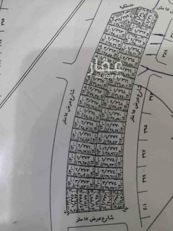 1693515 ارض بحي الرمال مخطط الواحة وجهة جنوبية مساحات ٣٤٩ م و ٣٥٢ م و ٣٥٣ م و ٣٥٧ م سعر المتر ١٣٨٠