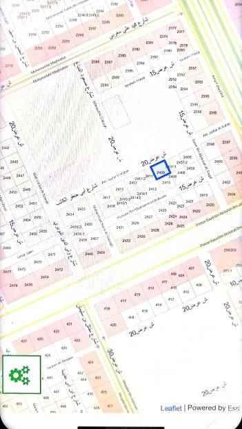 1403200 للبيع قطعه ارض في حي بدر أ  قريبه ل طريق الملك فهد  شماليه شارع ٢٠  ٢٢.٥ في ٢٥ علي السوم الموقع دقيق
