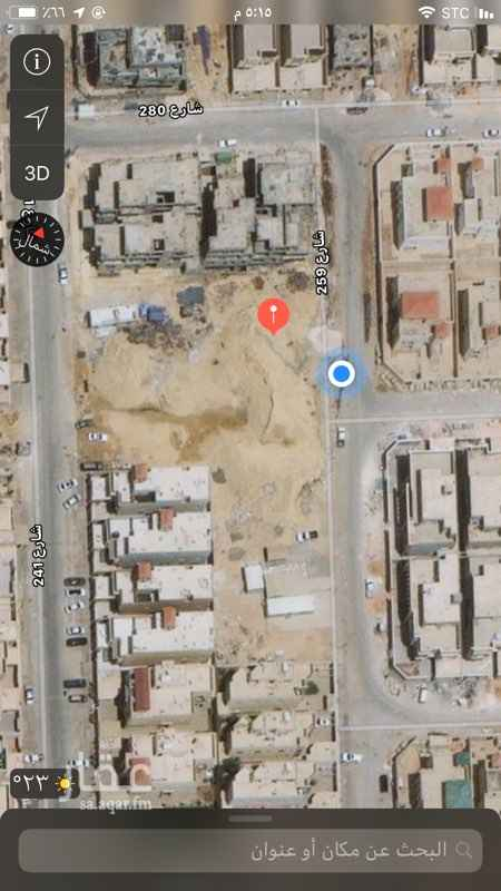 1431605 للبيع قطعتين ارض مساحة كل قطعة 750 متر حي الياسمين مربع 26 وجهه شرقية شارع 15 بيع علي شور 2300