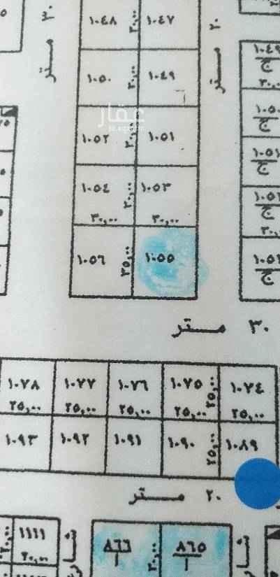 1687989 رقم القطعه ١٠٥ مخطط ٢٣٥١ شارع ٢٠ شرقي بطول ٣٥ شارع ٣٠ جنوبي بطول ٣٠ السوم ١١٥٠٠٠٠ البيع فرق السوم