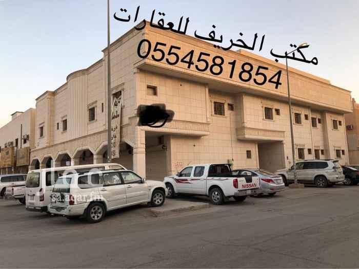 1602677 عمارة تجارية للإيجار بالكامل عدد ٩ شقق + ٥ محلات   شارع عبدالرحمن بن عوف حي السلام جنوب مسجد البازعي