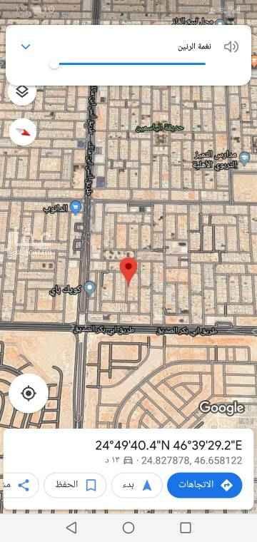 1711885 للبيع قطعة أرض ٦٩٠م  الياسمين  مربع ٢٥  جنوبية شارع ١٥م  ٢٣م في عمق ٣٠م  ع السوم