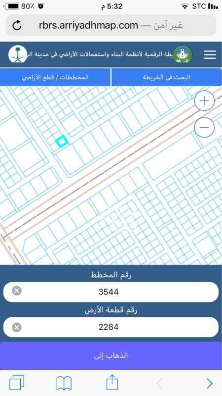 1526696 ارض في مخطط الخير رقم 44 قطعة رقم 2284 مساحتها 842 شرقي 20 جنوبي ممر 10