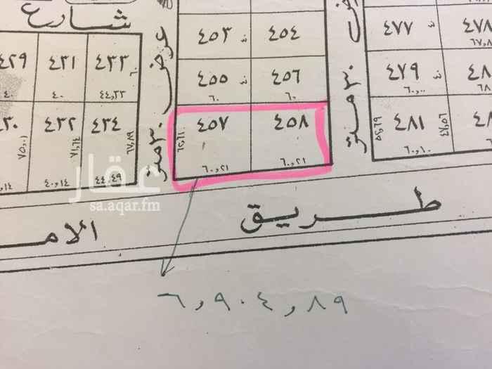 519110 للبيع مجموعة قطع تجارية بمخطط القادسية ( معارض سيارات )  وهذا رأس  ارقام القطع  457+458  الشوارع 60+30+30