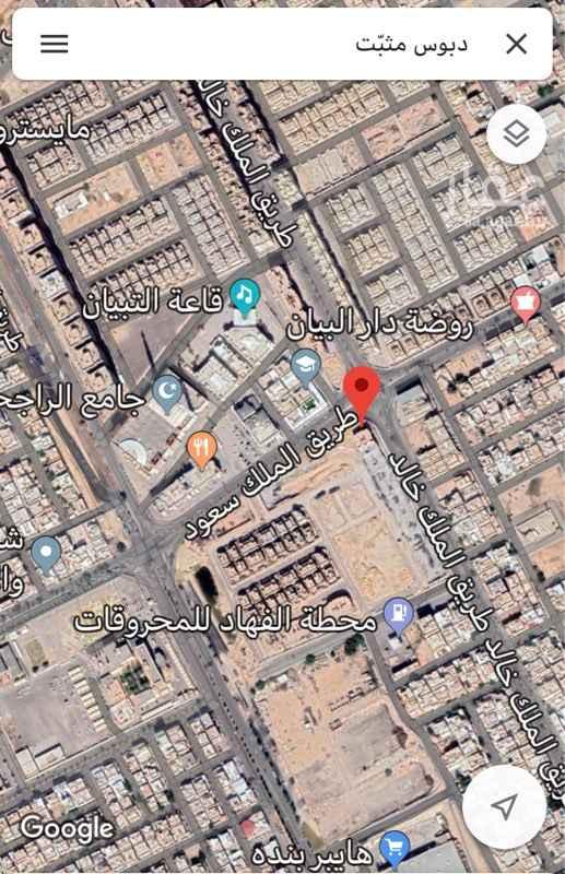 1641490 أرض تجارية على شارعين شرقية وشمالية، تقع على طريق الملك خالد وطريق الملك سعود  مساحتها 1655.82 متر.  (( السوم مفتوح ))    للتواصل والاستفسارات عبر الخاص أو برقم جوال المعلن
