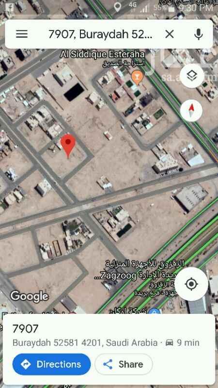 1158093 ارض سكنية في حي الصديق على شارع 15 شرقي