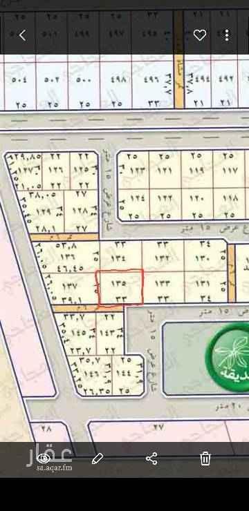 1415877 ارض سكنية مساحتها ٨٢٥ متر تفتح جنوب اطوالها ٣٣ على الشارع   و ٢٥ عمق