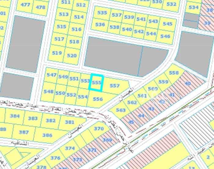 1427330 ارض مساحتها ٦٩٠ م (٢٣×٣٠)  مخطط الراجحي بحي القدس سعر البيع   ب٢١٠٠ريال للمتر