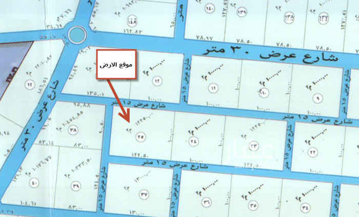1540278 ارض زراعية في العمارية على ثلاث شوارع شمالي15 و جنوبي 15و غربي 15