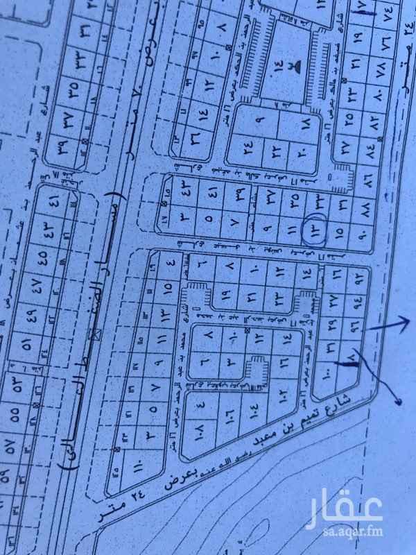 1301066 للبيع ارض سكنية في مخطط مدينة السلام الاولي علي ثلاث واجهات  ٢٤ م غربي ١٦ م جنوبي موقف شمالي الارض فيها نزول  رقم الارض  ١٠٢  ( السعي في الذمة )