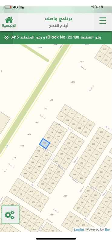 1745757 ارض للبيع بمخطط ٣٤١٥ رقمها ١٩٠ شمال شارع عرض ٢٠م وغرب ممر ٧م