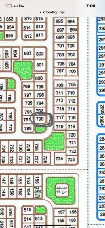 1754759 ارض حي القدس هاء رقم 790 واجهتين شارع 20 وحديقه منسوب ممتاز