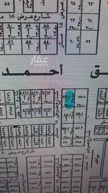 1650335 أرض تجارية للبيع على طريق الأمير خالد بن بندر (ابن عطوه سابقاً) تُطل على شارع ٦٠ شمالي ، وعلى شارع ١٥ غربي الأطوال من جهة خالد بن بندر ٢٥ متر ومن جهة الـ١٥ بطول ٣٥.٢٥ متر بمساحة ٨٨١.٢٥ متر ، السوم ٣٤٥٠ للمتر صافي والبيع بـ٣٥٥٠ للمتر صافي والله الموفق ،،،