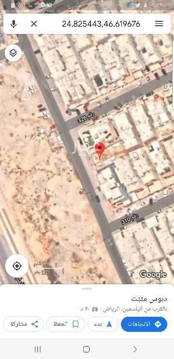 1761317 ارض بحي الياسمين مربع 25 اتجاه غربي شارع 15 مساحة 304 م ابعادها 25*12 رقم القطعة 2/754 من المخطط رقم 3114
