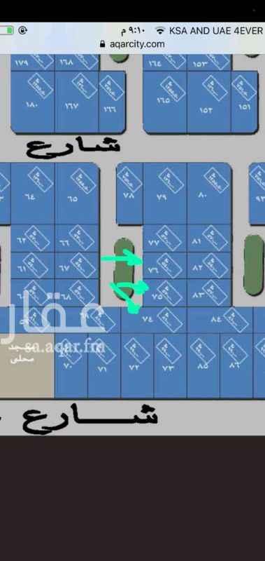 1351415 قطعتين  ٧٥ و ٧٦   بالعرفاء مخطط ١  خلف أرضية وزارة الاعلام موقعها ممتاز   كل أرض بصك المطلوب في كل قطعه ٢٣٠
