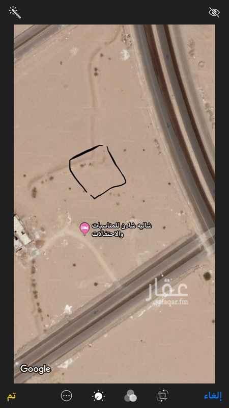 1569436 ارض للايجار مساحتها ٦٢٥ بالقرب من شاليه شادن ..تصلح استراحه