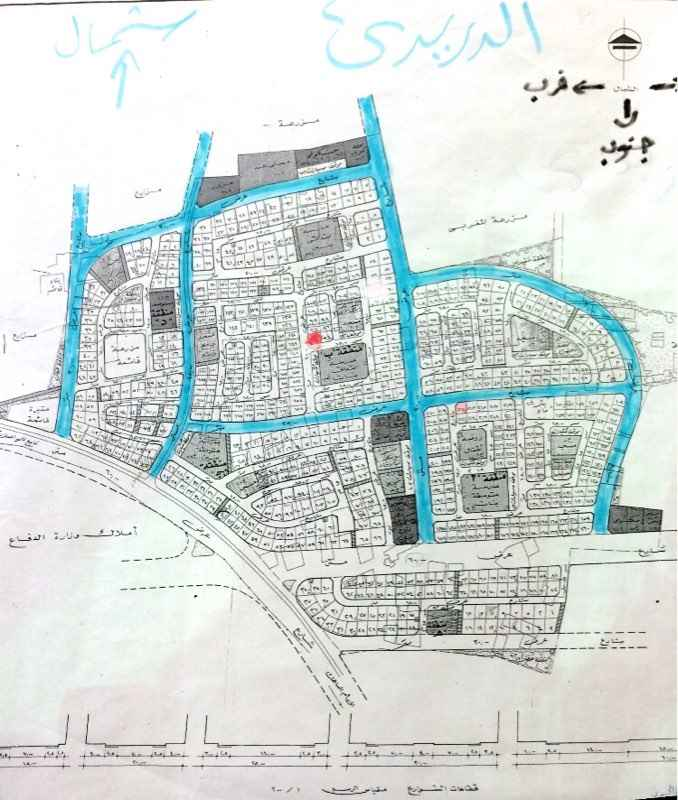 1393954 للبيع أرض زاوية جنوبي غربي في مخطط رقم 11 / 68   الواقع في حي الدريدي بمدينة القطيف   القطعه رقم 95