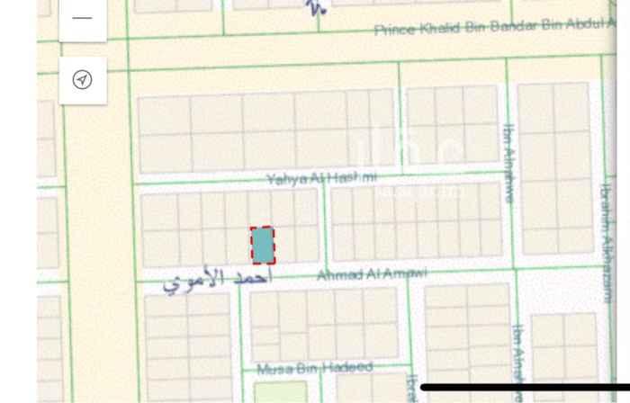 1648897 واجهة جنوبيه شارعها ٢٠ متر عرضها ١٦.٥  العمق ٢٦ متر بينها وبين طريق الملك عبدالعزيز اربع قطع