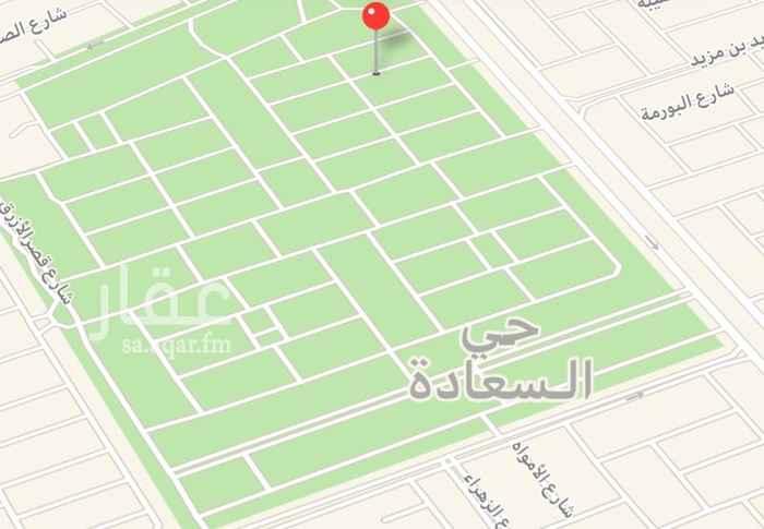 1681973 خمس قطع  للبيع في حي السعادة  مساحة كل قطعة 324   متر شارع 15  شمالي الطوالة 12 ونص في 27  سوووم. 1550  نايف السبيعي.