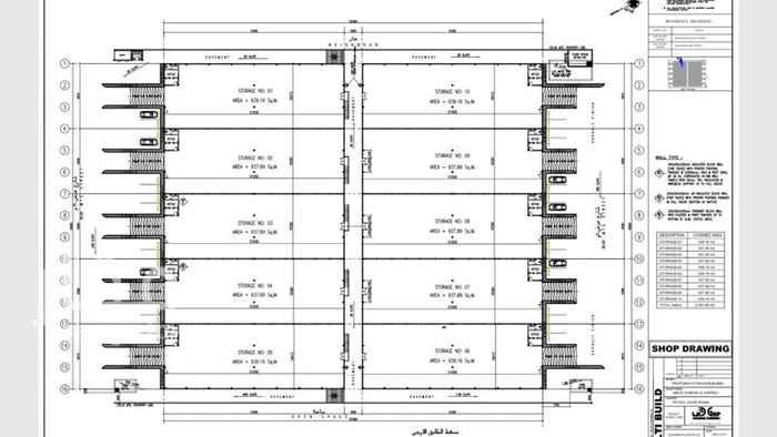 983091 مكون من 10 مستودعات كل مستودع مساحته/ 938 متر مربع. مجهز بكامل التجهيزات حسب اشتراطات البلديات والدفاع المدني ، يقع على شارع ابن ماجة بعرض 60 مترا  ابو محمد / 0504833108