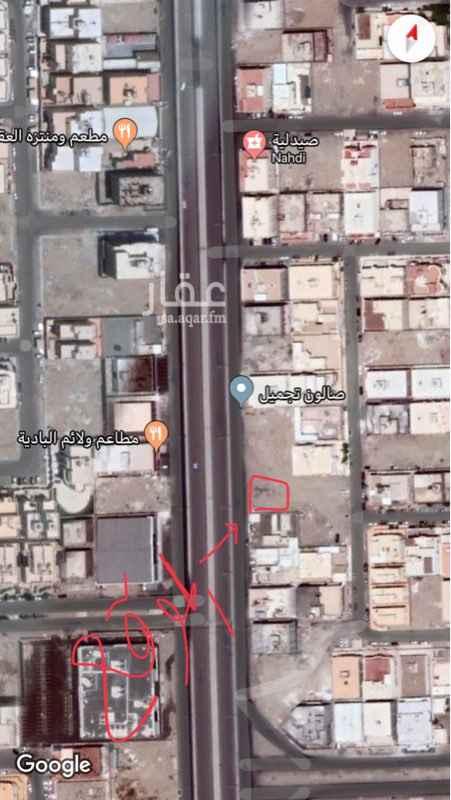 1344095 ارض للايجار على الشارع العام حي الصالحيه مقابل مطاعم الباديه قبل مركز اسواق دبي المساحه (٦٦٠)