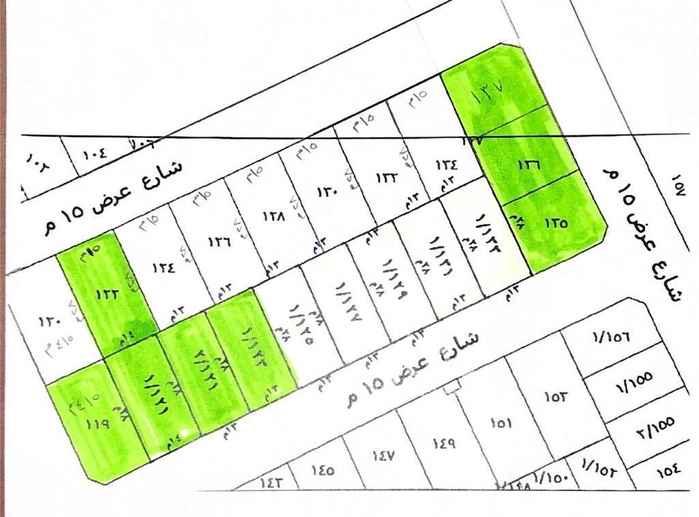1454393 للبيع ارض سكني حي النرجس مخطط الؤلؤ   البيع  ٦ قطع  يوجد قطعه زاويه  رقم البلك ١٤  شمالية شارع ١٥ المساحه ٤٢٠م الطول ١٥ ×٢٨عمق  حد البيع ١٨٠٠ +الضريبة  العرض مباشرة