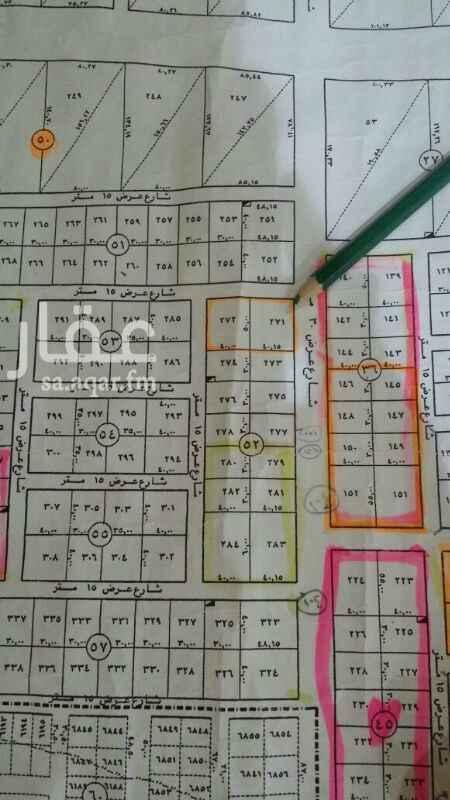 769087 أرض لايجار في حي المنيع المساحة 4000 متر مربع شارع 30 شرقي و15 شمالي و15 غربي (50×80) مده الإيجار 10 سنوات وممكن 15 سنة مع زيادة السعر العرض حصري مباشر