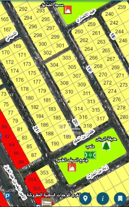 1580526 للبيع ارض في غرناطه موقع ممتاز جدا قريبه من مسجد وحديقه والخدمات وقريبه من شارع الامير نايف رقم 185 حرف/د