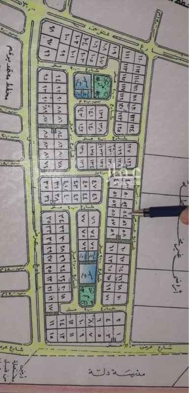 1743355 للبيع ارض في مخطط غرب دله رقم 29 مساحه875 مترشارع40 جنوب موقع مميز